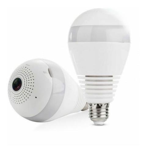 lâmpada espiã câmera ip led wifi hd panorâmica