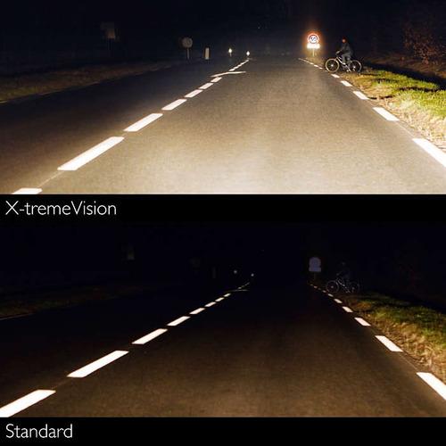 lâmpada farol moto h4 philips xtreme vision cbx 250 cb 300