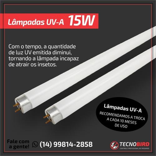 lâmpada fluorescente luz negra 15 watts  luz negra uv-a 15 w