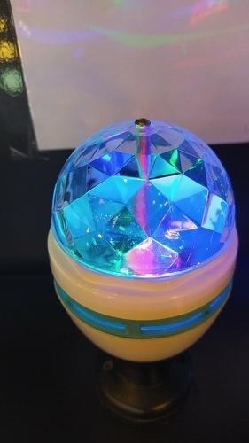 lâmpada giratória rgb (led) bivolt