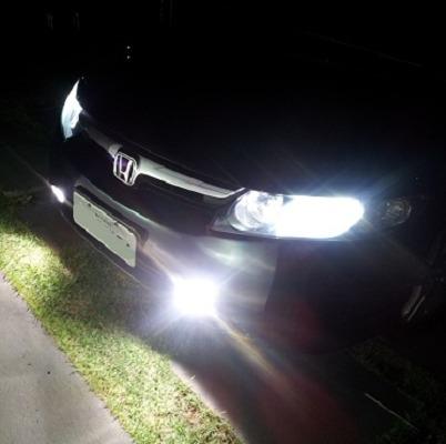 lâmpada h11 55w super branca milha fiesta fusion new civic