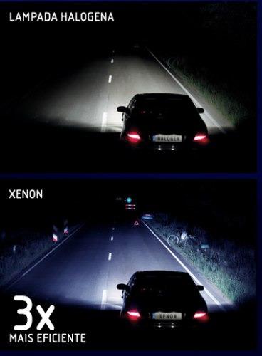 lâmpada h4-3 bi-xenon p/ reposição - 12.000k - azul  violeta