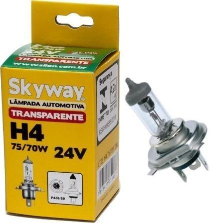lâmpada h4 75/70w 24v halógena  - par