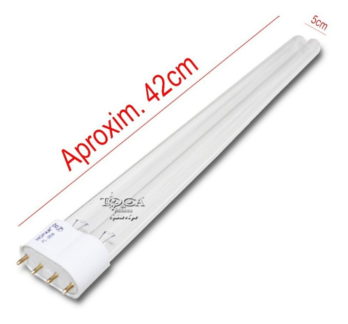 lâmpada hopar de reposição p/ filtro uv tipo pl 36w 4 pinos