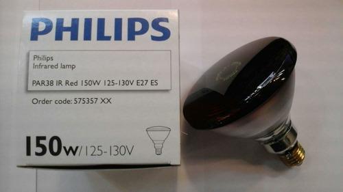 lâmpada infravermelha philips 150w 110v fisioterapia saúde