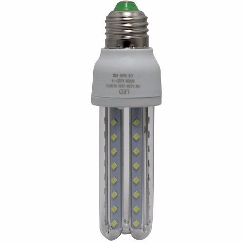 lâmpada led 3u 9w branco frio e27 milho