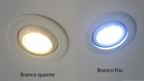 lâmpada led 7w 3u luz branco frio e27 bivolt
