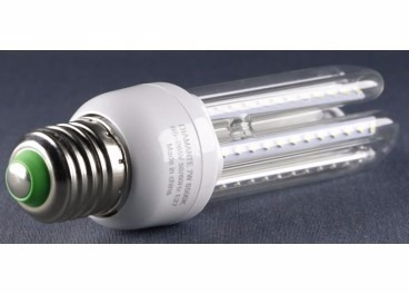 lâmpada led 7w 3u luz branco quente e27 bivolt