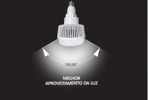 Lâmpada led alta potência tln170 65w e27 frio 6500k g light r$ 215