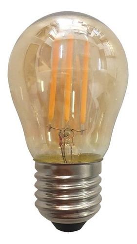lâmpada led bulbo g45 4w bolinha filamento âmbar