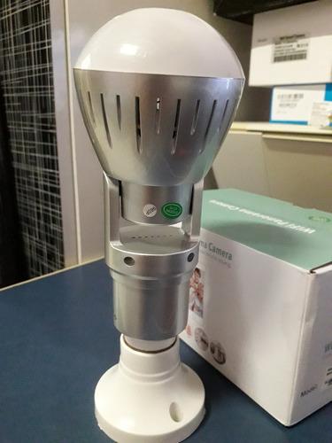 lâmpada led com câmera wifi panorâmica 360º