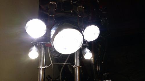 lâmpada led farol para motos honda yamaha suzuki harley bmw