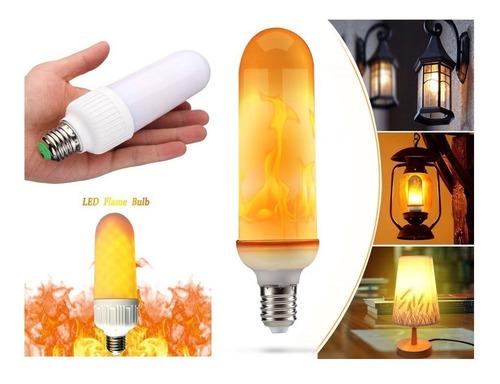 lâmpada led luz efeito chama tocha de fogo 7w (bivolt) 01