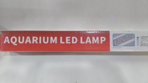 lâmpada led minjiang 5w- branco/azul 35cm aquário