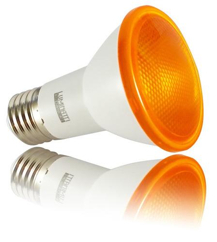 lâmpada led par 20 6w ambar bivolt luminatti ip65