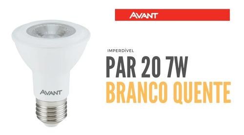 lâmpada led par 20 avant 7w branco quente