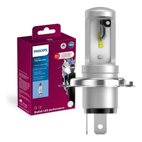 lâmpada led ultinon philips moto hs1 / h4 12v 6000k