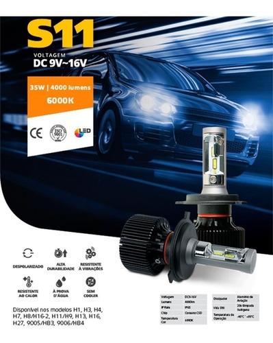 lâmpada led ultra h3 6k 12v 35w 8000lm s11 - shocklight