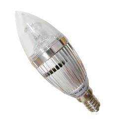 lâmpada  led vela 03w branca fria luxgen
