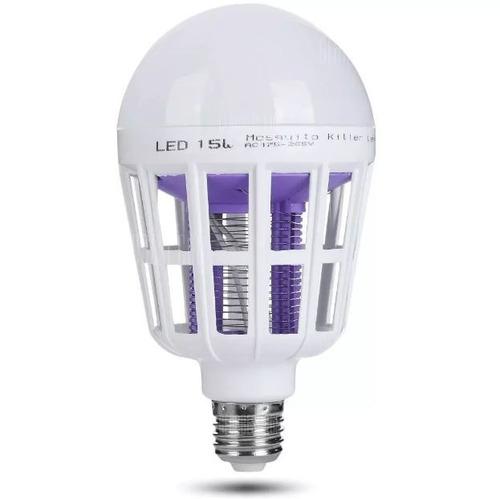 lâmpada luz led 15 watts mata mosquito insetos pernilongo