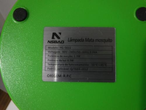 lâmpada mata mosquitos original nsbao sapo yg-5611 perfeito!