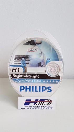 lâmpada philips h1 super branca crystal vision ultra + pingo