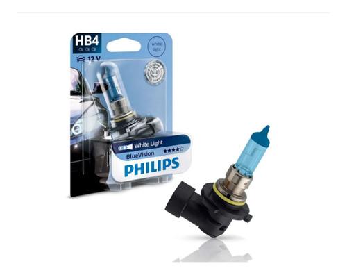 lâmpada super branca blue vision hb4 philips (unitário)