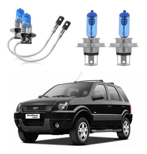 lâmpada super branca ford ecosport 03 a 07 alta baixa milha