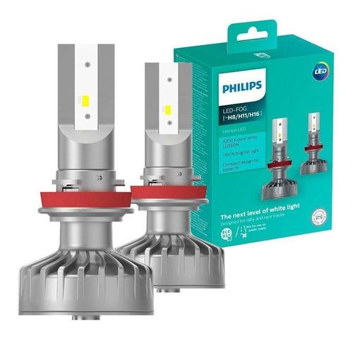 lâmpada super branca led xtreme ultinon h8/h11/h16 philips