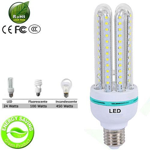 lâmpada super led 24w econômica bivolt e27 branco quente