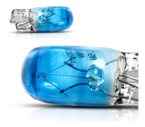 lâmpada t10 12v w2,1 x 9,5d pingão azul