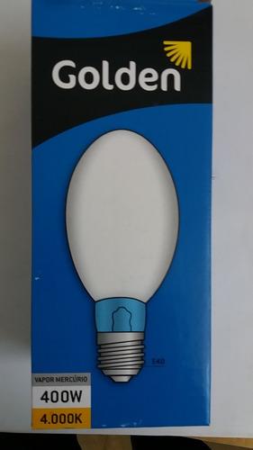 lâmpada vapor de mercúrio - 400w - golden - na caixa!