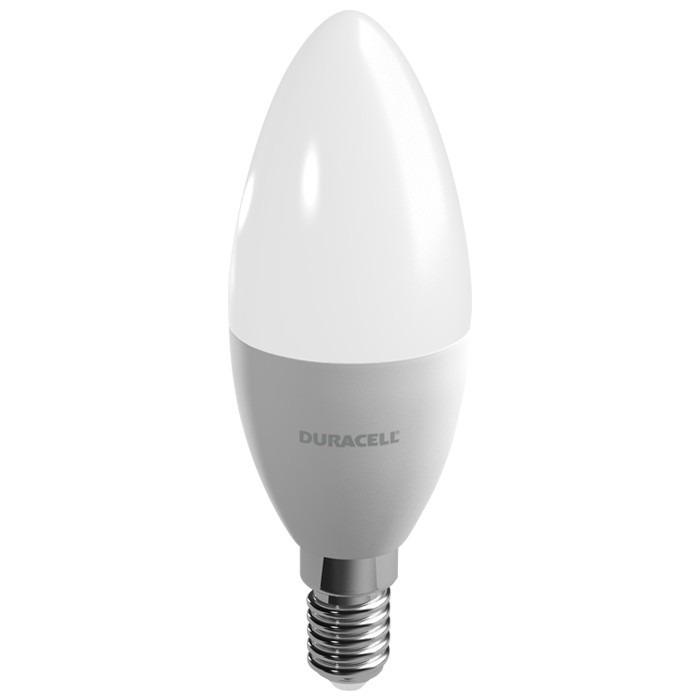 Lampada E12 Led Vela: Lâmpada Vela Led Duracell 6w = 40w Bivolt 3000k Amarela