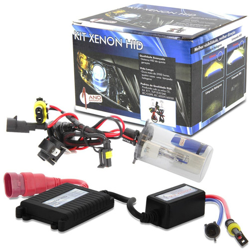 lâmpada xenon h4-2 8000k fox 07 06 05 04 03 reator slim kit