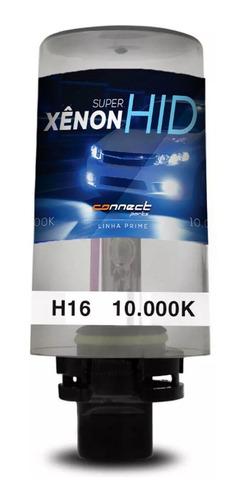 lâmpada xênon reposição h16 10000k tonalidade azul violeta
