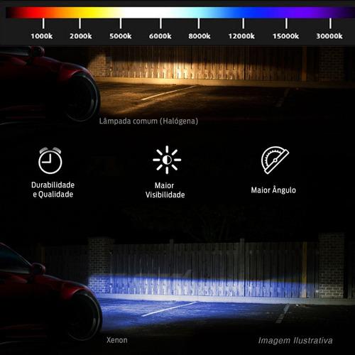 lâmpada xênon reposição h16 12000k tonalidade azul