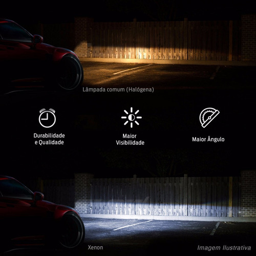 lâmpada xênon reposição h27 8000k luz farol milha 35w