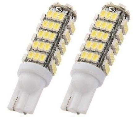lâmpadas 68 leds pingo farolete peugeot 206 207 super branca