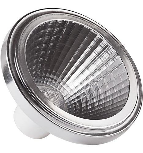 lâmpadas ar111 led 10w 24º brilia branco quente 302976