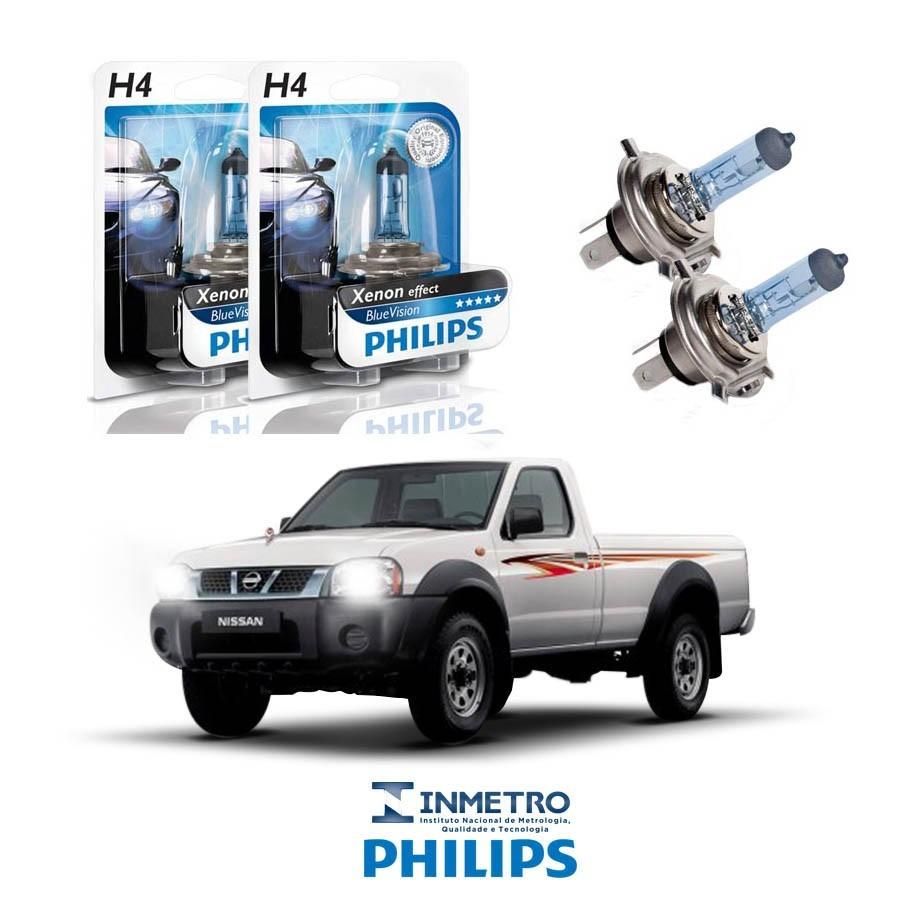 Lâmpadas Farol Nissan Pick Up Philips H4 Bluevision. Carregando Zoom.