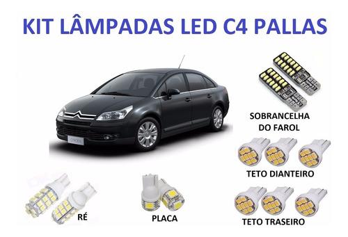 lâmpadas led c4 pallas sobrancelha placa teto ré efeitoxenon