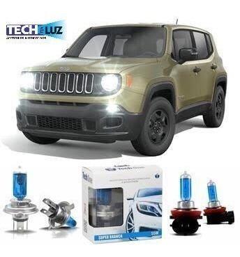 lâmpadas super branca jeep renegade farol alto baixo milha