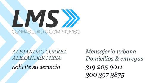 lms logística mensajería servicio y domicilios medellin