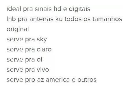 lnb duplo duas saidas marca brasilsat hd ku universal hd fre