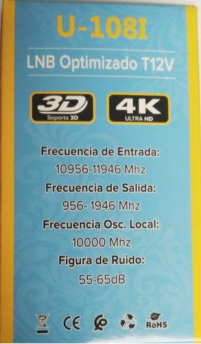 lnb optimizado para antenas de servicio de tv satelital
