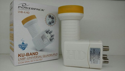 lnb original powerpack lnb-4 hd 4 saida universal ku lnb