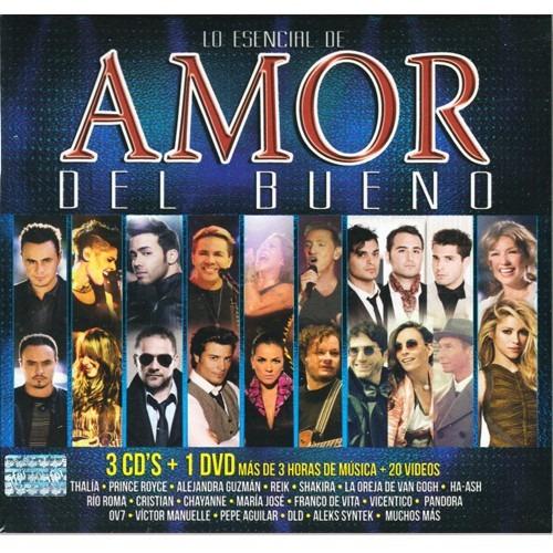 lo esencial de amor del bueno 3 discos cd + dvd