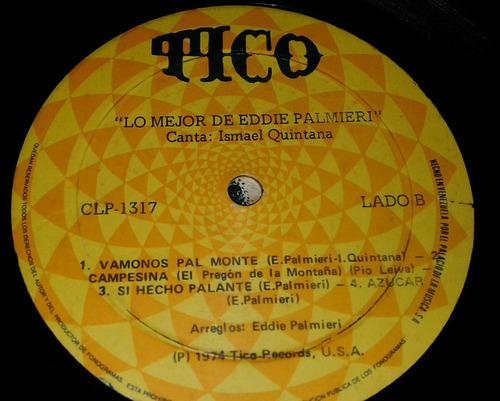 lo mejor de eddie palmieri ismael quintana/ salsa lp 1974