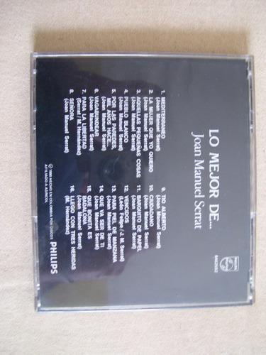 lo mejor de  joan manuel serrat 16 temas cd original