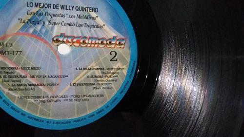 lo mejor de willy quintero  lp vinilo cumbia